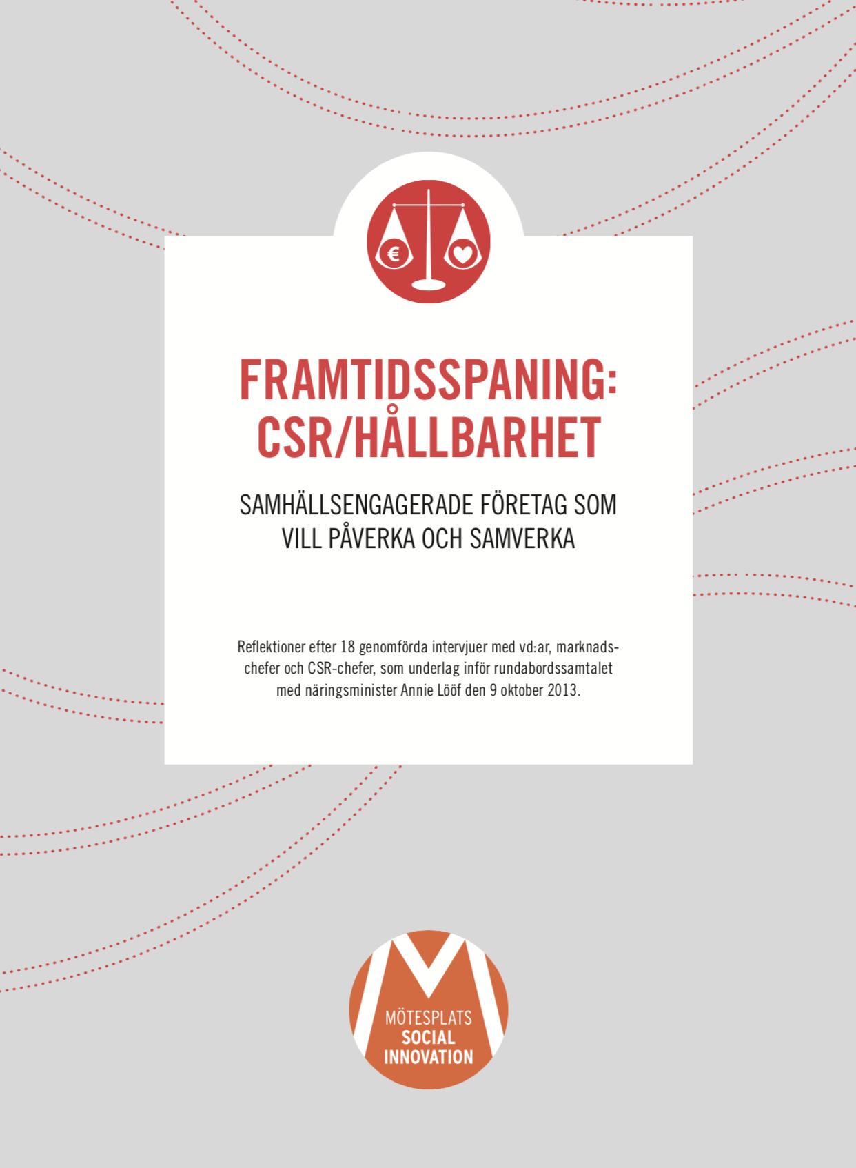 Framtidsspaning: CSR/Hållbarhet (2013)