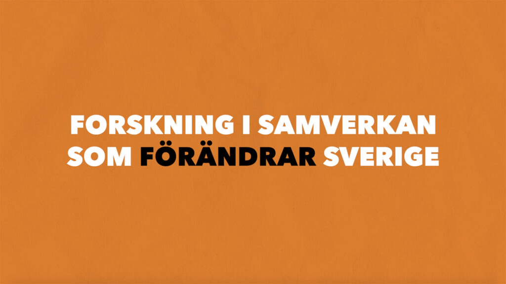 MSI lyfter fram forskning i samverkan som förändrar Sverige