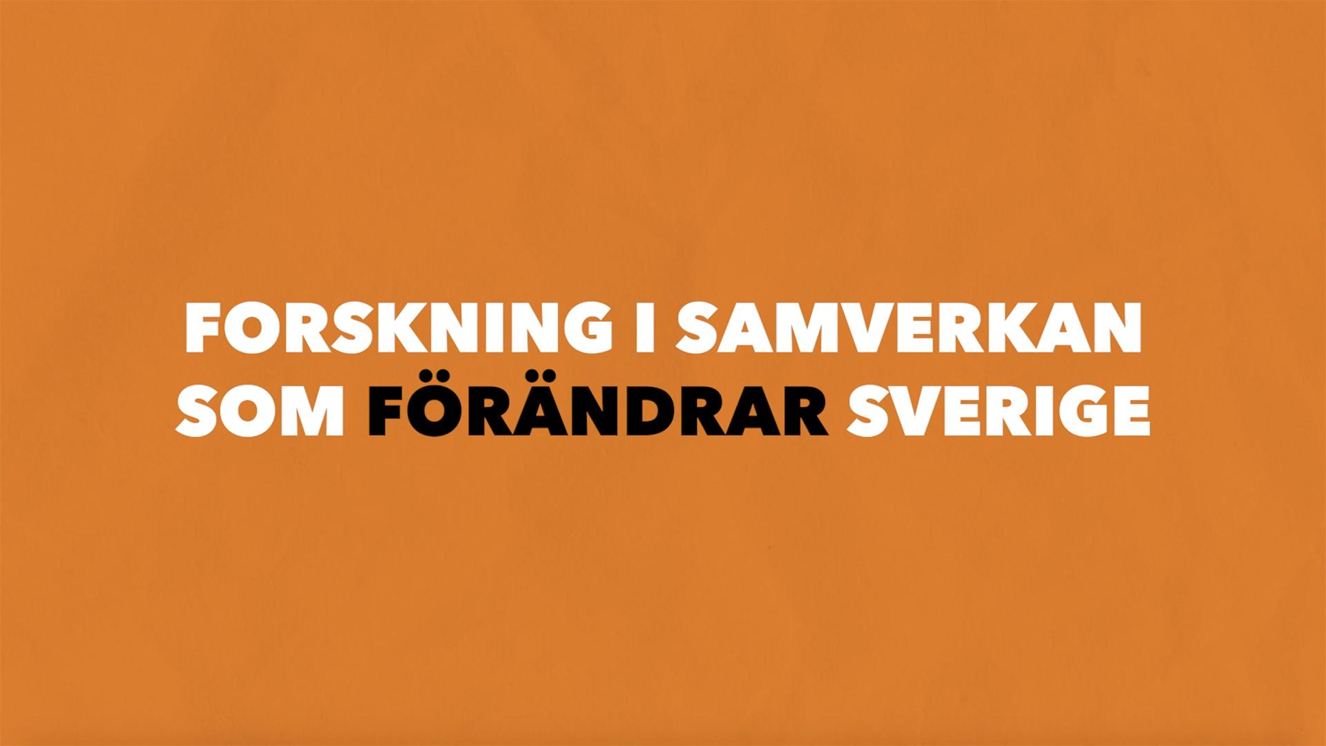 Banner på Forskning i samverkan som förändrar Sverige